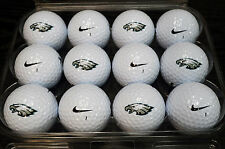 3 Dozen Philadelphia Eagles Logo Nike Vapor Black Mint / AAAAA Used Golf Balls