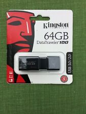 Kingston Digital 64GB 100 G3 USB 3.0 DataTraveler (DT100G3/64GB)