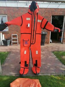 Überlebensanzug - Thermoanzug - Neopren - Xl - Seeschifffahrt, Immersion suit !!