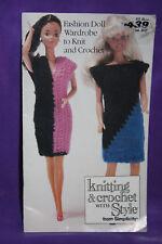 Vintage Simplicity Barbie Doll Wardrobe Knit Crochet Clothing Booklet (140)