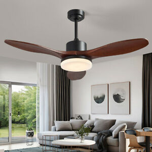 """48"""" Ceiling Fan LED 3 Blades With Light&Remote Control Noiseless"""