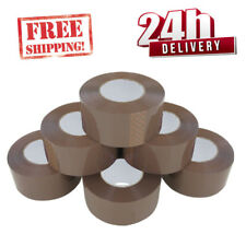 36 ROLLS LOW NOISE EXTRA STRONG PARCEL TAPE BIG TAPE 48MM X 150M BROWN BOXES