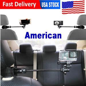 3in1 Car Headrest Mount Holder for Action Camera /Smartphones/DSLR Camcorder -US