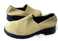 Nine West Fabric Slip On Loafers Tan Black Career Shoe Millbrook Womens 7.5