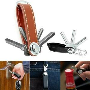 Car Key Pouch Bag Case Wallet Holder Chain Keys Rings Housekeeper Collector V4F8