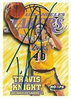 Travis Knight Signed Auto 1997 Skybox NBA Hoops LA Lakers Card - COA - NY Knicks