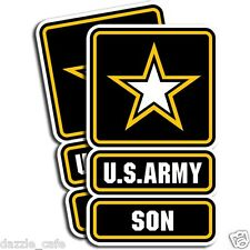 US Army SON Stickers Military Die Cut Decals 2 Pack Adhesive Vinyl Stickers