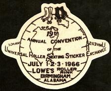FELT PATCH Roller Skating Sticker Exchange 1966 LOWE'S RINK Birmingham Alabama