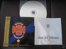 Rock Aid Armenia Japan Laserdisc w OBI Pink Floyd Iron Maiden Genesis Yes Rush