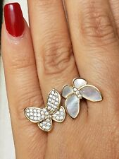 14k yellow Gold two butterflies ring size 7