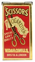 SCISSORS Cigarette Tin - Special Army Quality W.D.&H.O.WILLS London