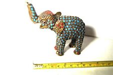 Antique Wire Cloisonne Mythological Elephant Figurine, Rare