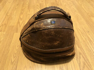 Vintage 1940s  Hutze Hot Z Leather Bowling Ball Bag Case