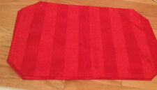 Table mats, set of 2, red with stripes double sided, new 12.5 x 17.5 inches