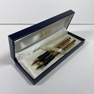 Bill Blass Manhattan Pen and .9 Mechanical Pencil Set GOLD