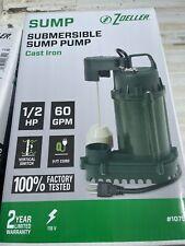 Zoeller 12 Hp Cast Iron Submersible Sump Pump 1075
