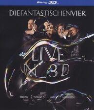 """I FANTASTICI QUATTRO """"Live in 3 D"""" BLU RAY NUOVO"""