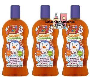 Kids Stuff Crazy Soap Colour Changing Bubble Bath 300ml ORANGE TO GREEN - 3 Pack