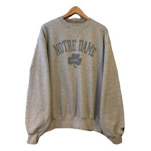 Vintage Champion Notre Dame University Sweatshirt Size Large