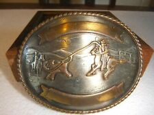 Cow Boy Hat Belt Buckle-Golden-CowBoy Accessories-Western Ornaments-Large