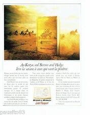 PUBLICITE ADVERTISING 116  1989  Benson & Hedges Gold passeport Au Kenya