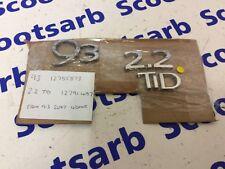 SAAB 9-3 93 Badge Letters Rear Emblem 2.2 TiD Turbo Diesel 12791497 12785873 03+