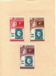 1956 ST HELENA - STAMP CENTENARY MMH STAMP SET FROM COLLECTION B7