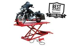Titan 1,500 lbs. XLT Motorcycle Lift with Front & Side Extensions. Vise Included