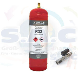 1 L Mehrweg Kältemittel Flasche gefüllt mit R32 mit, ohne oder nur Ventil
