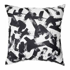 2 X IKEA TURILL FILLED CUSHION COVER BLACK WHITE PATTERN 40x40cm UK-C786