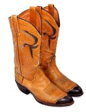 Vintage DAN POST Western Cowboy Boots Handcrafted In Spain Style 6664 Mens 9  D