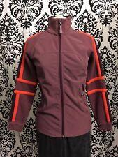 Lululemon Stride Jacket Burgundy Wool Merino Rare Fleece Lined Coat Size 4