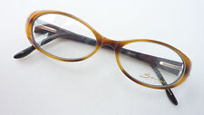 Brillenfassung Gestell Damen Brille braune Hornoptik mit Strass Decor oval Gr. M