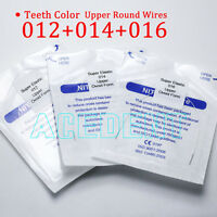 60 pcs Orthodontic arch wires 12 14 16 Upper teeth white color coated