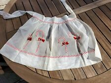New listing Vintage apron Christmas Candy Canes stripes & jingle bells holiday hand made