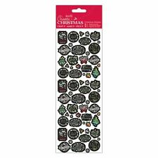 Docraft Papermania Create Christmas Stickers Chalkboard for crafts