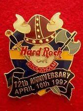 HRC hard rock cafe estocolmo 12th Anniversary Brown Viking Helmet Sword le500
