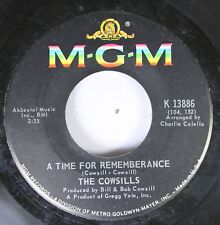 Rock 45 The Cowsills - A Time For Rememberance / We Can Fly On Mgm Records