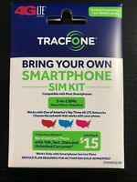 Tracfone Bring Your Own Phone SIM Card Kit Nano/Micro/Standard GSM CDMA 4G/LTE