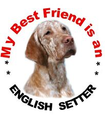 2 English Setter MBF Dog Car Stickers Design No 4  by Starprint