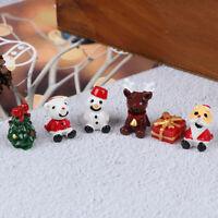 10PC Christmas Mini Santa Christmas Tree Garden Decor Snow Landscape Model