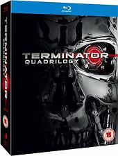 "TERMINATOR QUADRILOGY THE COMPLETE COLLECTION 4 DISC BOX SET BLU-RAY RB ""SEALED"""