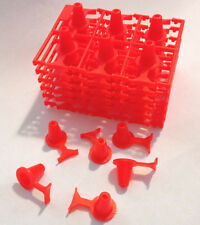 36pc 1991 TYCO TCR Slot Car Traffic Pylon Cones Obstacle w/Track Edge Guides! A+