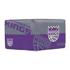 NBA Sacramento Kings Men's Printed Logo Leather Bi-Fold Wallet