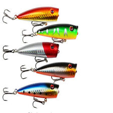 5pcs/lot 7cm popper Lure Bait 6# Hooks Crank baits Hard Bait Minow Fishing lures