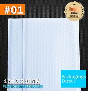 Poly Bubble Mailer G1 160 x 230mm White 01 Premium Light Padded Bag Envelope