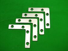 Corner plate flat corner brace fixing L bracket, 63x63mm, pack of 4 zinc plated
