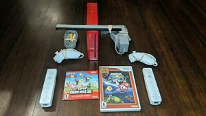 Limited Edition Red Nintendo Wii With New Super Mario Bros, Super Mario Galaxy +