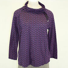 NEW NWOT Talbots Plus Size Cowl Neck Top Multi-Color Printed Blouse Sweater 2X