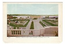 General View of Falls & Gardens NIAGARA FALLS Ontario Folkard Foldout Postcard